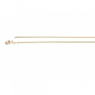 BNH 14kt Guld Anker Facet Halskæde 0,4/1,3mm 38cm-20