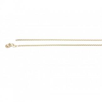BNH 14kt Guld Anker Facet Halskæde 0,4/1,3mm 55cm-20