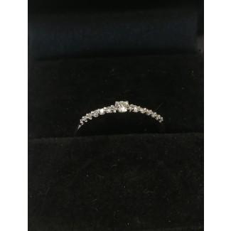 14kt Hvidgulds Ring med i alt 0,12ct Diamanter-20