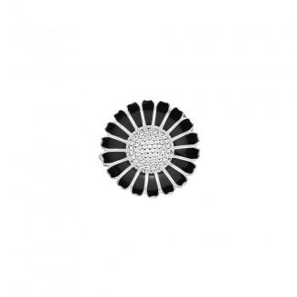 Lund Copenhagen Broche Sort/ Sølv 904025-S-20