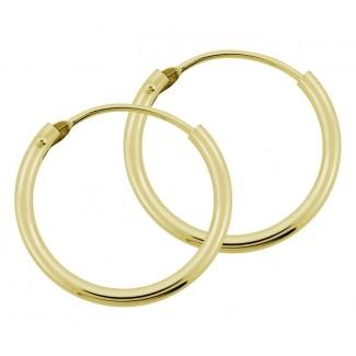 BNH 14kt Guld Creol 1,3mm/17,5mm-20