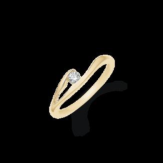 Støvring Design 14kt Guld Ring med Zirkonia 72245006-20
