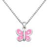 SmykkeLine Sommerfugl Halskæde med Pink Emalje 16223303-01