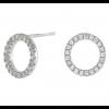 Joanli Nor sølv ANNA cirkel ørestik med zirkonia 10mm 345 047-01
