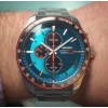 Seiko Solar Chronograph med turkis skive SSC717P1-01