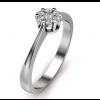 14kt Hvidguldsring med i alt 0,15ct Diamanter Wesselton VS-01