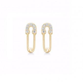 Guld og Sølv Design Forgyldt Seville Ørestik 11346/F