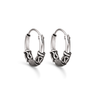 Støvring Design Sølv Creol med Oxyderet Mønster 15mm 10148847