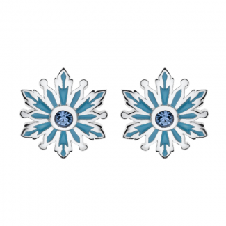 Disney Frost Sølv Ørestik med Blå Snefnug og Zirkonia 10333007