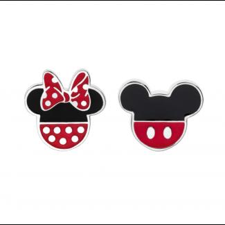Disney Micky og Minnie Mouse Ørestik i Sølv 10333999