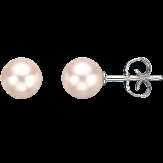 Scrouples Sølv Ferskvands Perle Ørestik 7-7½ mm 1062