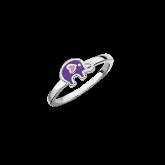 SmykkeLine Elefant Ring i Lilla 12223416
