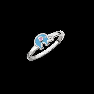 SmykkeLine Elefant Ring i Blå 12223616