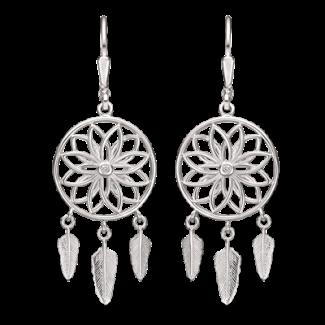 Støvring Design Sølv Ørehæng med Drømmefanger og zirkonia 13223627