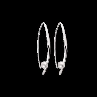 Støvring Design Sølv Ørehæng med Ferskvandsperle 45x25mm 13239973