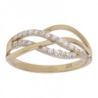 Nordahl Andersen 8kt Guld ring med syn. zirkonia