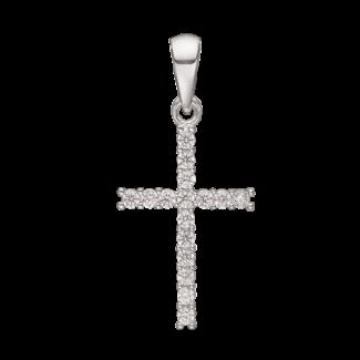 Støvring Design Sølv Kors Vedhæng med Zirkonia 17x12mm 14239910