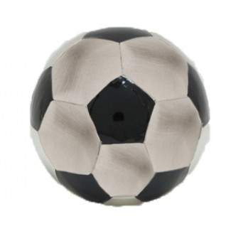 Fortinnet Sparebøsse i Fodbold med Sort Emalje 152-76266