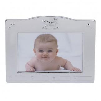 Forkromet Fotoramme med dåbsmotiver 157-86087