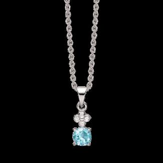 Støvring Design Sølv halskæde med Zirkonia og Topas 16223609