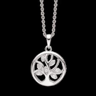 Støvring Design Sølv Halskæde med Livets Træ med Zirkonia 16249018