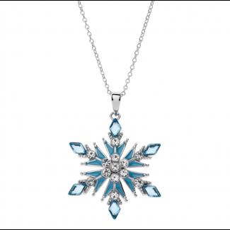 Disney Frost 2 Sølv Halskæde i Sølv Snefnug med Zirkonia 16333504