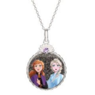Disney Frost 2 Anna og Elsa Halskæde i Sølv med Lilla Zirkonia 16333505