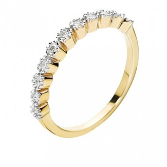 Lund Copenhagen Alliancering 8 kt. guld med Diamanter 307783-0,21