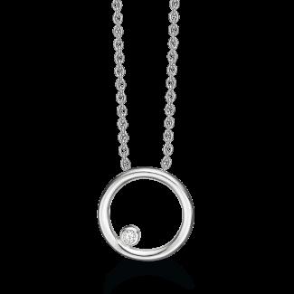 Støvring Design Sølv Collier med 0,025ct Diamant 36223008