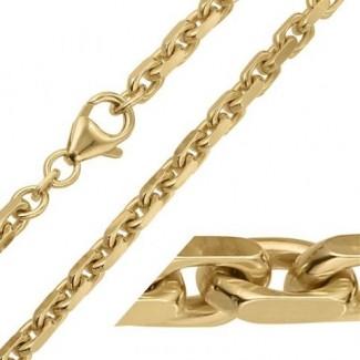 BNH 8kt Guld Anker Facet Halskæde 0,7/1,8mm - 42cm