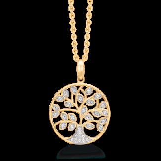 Støvring design 8kt Guld Vedhæng med Forgyldt Halskæde 66242040