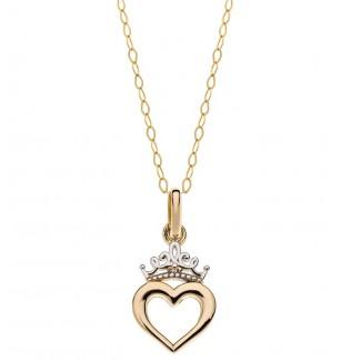 Disney Prinsesse Halskæde 9kt Guld med Forgyldt Kæde 66333012