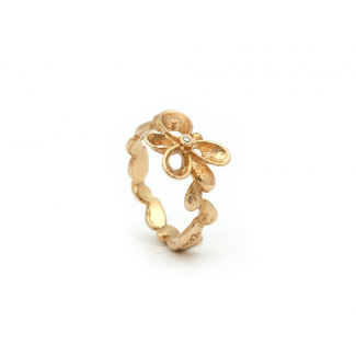 Per Borup Lille Violina Ring 14kt Guld med 0,01ct Diamant