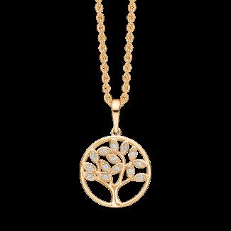 Støvring Design 14kt Guld Livets træ Vedhæng med Zirkonia 76242022