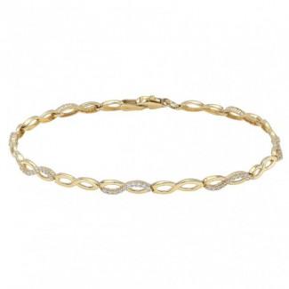 Nordahl Andersen Infinity 8kt Guld Armbånd med zirkonia 882 068 3