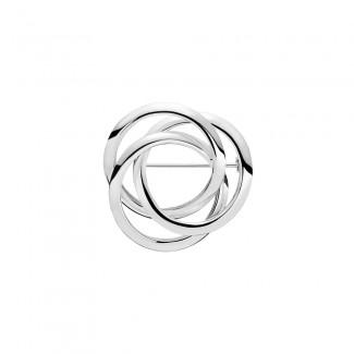 Lund Copenhagen Sølv Broche med 3 Ringe 9048952