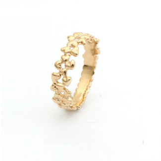 Per Borup Lille Hearts Ring 14kt Guld 940R