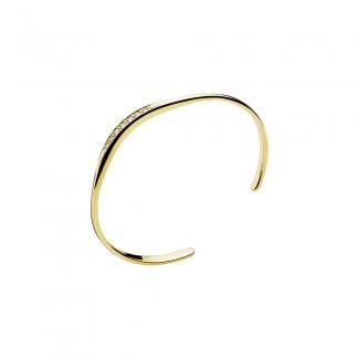 Lund Copenhagen Armring i 14 karat Guld med Diamanter 503829-0