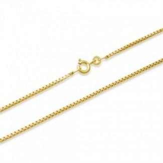 BNH 8kt Guld Venezia Halskæde 1,0/0,9mm - 45cm