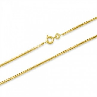 BNH 14kt Guld Venezia Halskæde 0,9/0,8mm - 50cm