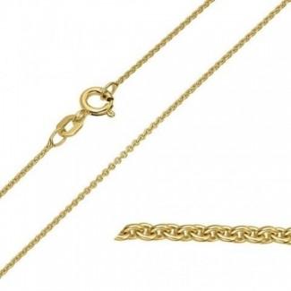 BNH 8kt Guld Rund Anker Halskæde 0,4/1,5mm - 50cm