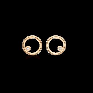 Støvring Design Forgyldt Ørestik med i alt 0,005ct Diamant F30223008