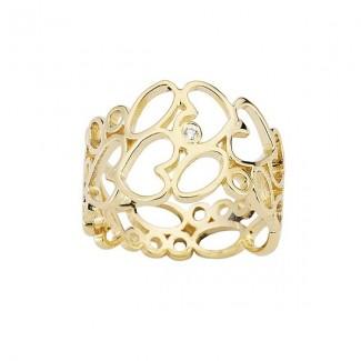 Nuran Loveday 14kt Guld Ring med Brilliant R2943