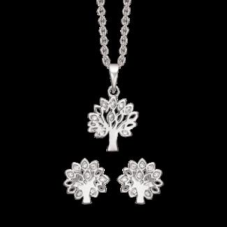 Støvring Design Sølv Smykkesæt med Livets Træ S239127