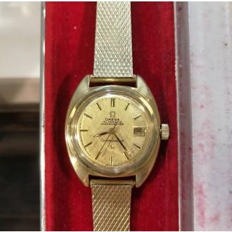 Omega Constellation Lady Automatik Chronometer 14kt guld/Stål